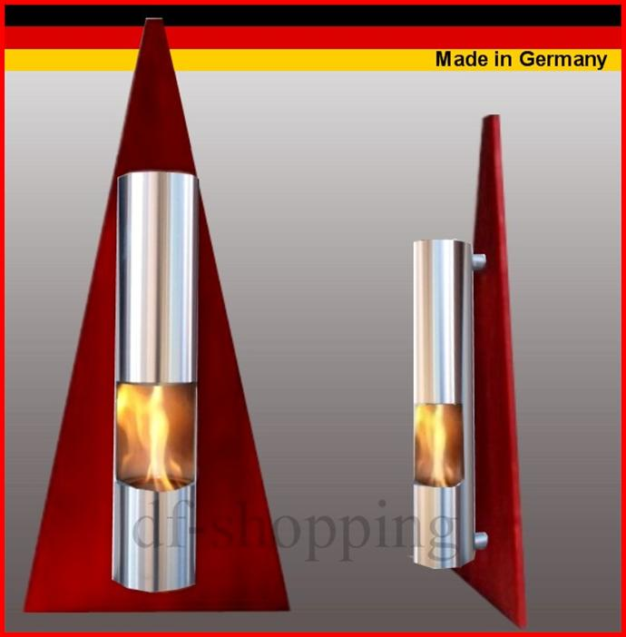 gel und ethanol kamin pyramide rot gelkamin ethanolkamin bioethanol fireplace ebay. Black Bedroom Furniture Sets. Home Design Ideas