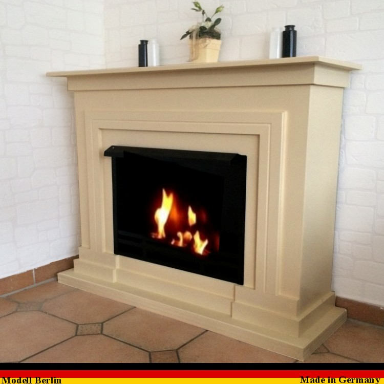 gelkamin ethanolkamin kamin camino fireplace modell berlin premium royal creme ebay. Black Bedroom Furniture Sets. Home Design Ideas