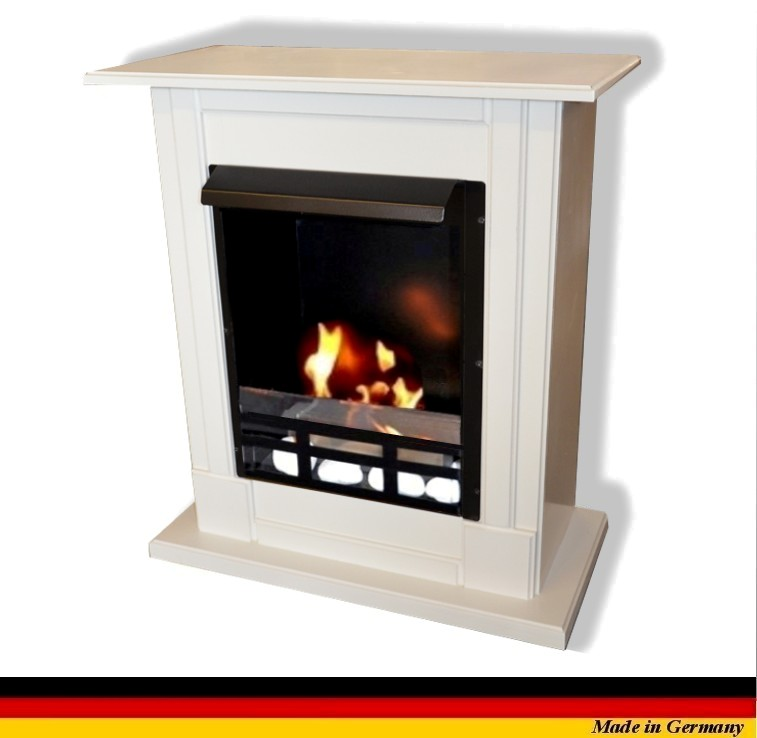 ethanol firegel fireplace cheminee madrid deluxe royal white safety glass ebay. Black Bedroom Furniture Sets. Home Design Ideas