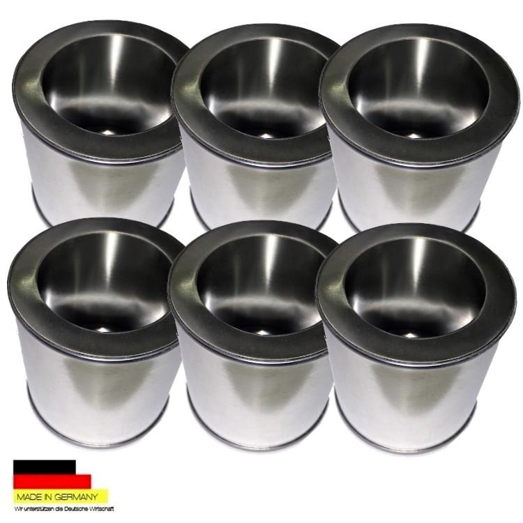 6 latas de combustible 0 25 litros de hojalata de placas - Placa de acero inoxidable ...