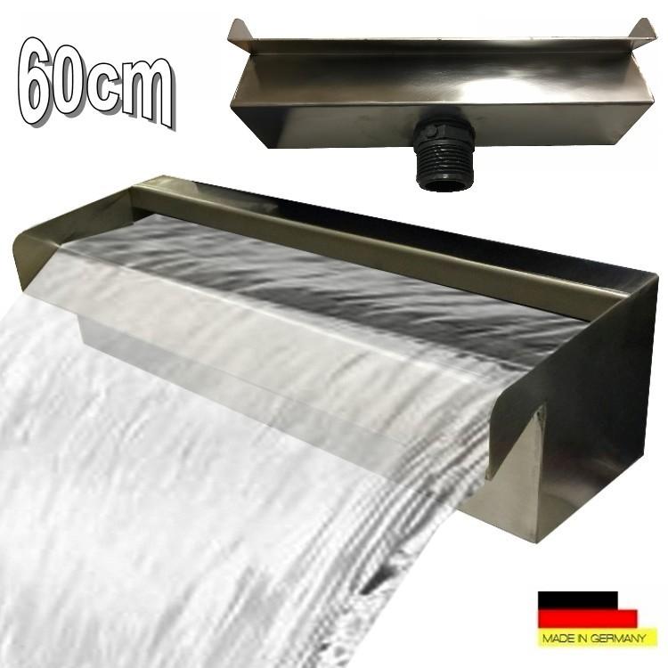 Wasserfall 60 cm edelstahl waterfall wasserspiel kaskade for Teich edelstahl