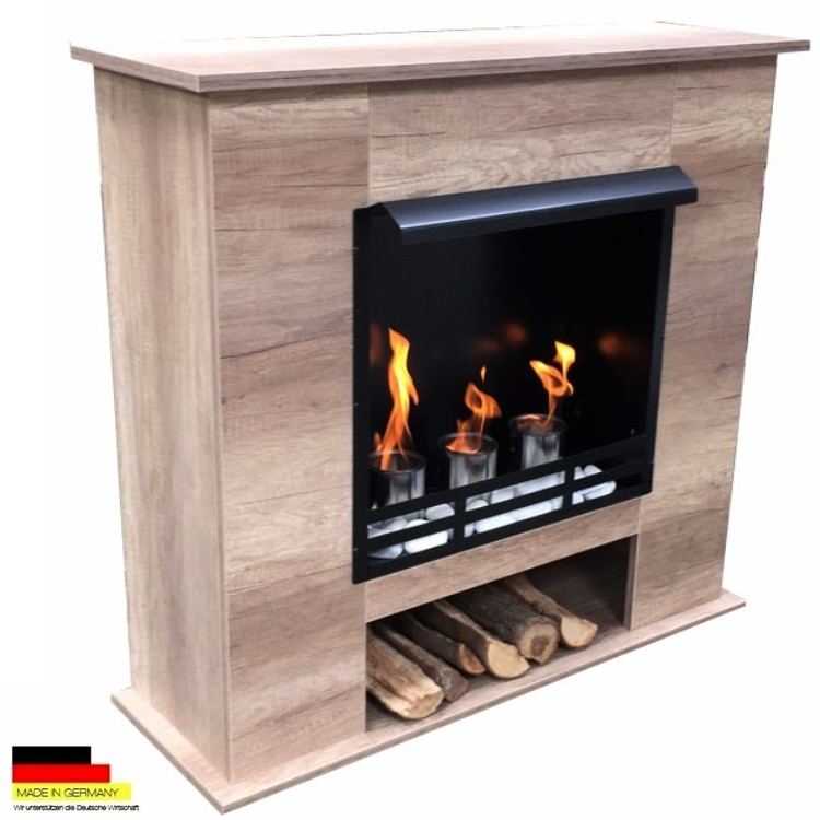 gelkamin ethanolkamin kamin fireplace modell 001b eiche hell inkl 27 teil set ebay. Black Bedroom Furniture Sets. Home Design Ideas