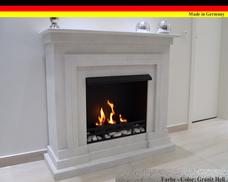 gelkamin ethanolkamin kamin fireplace modell berlin deluxe royal granit hell ebay. Black Bedroom Furniture Sets. Home Design Ideas