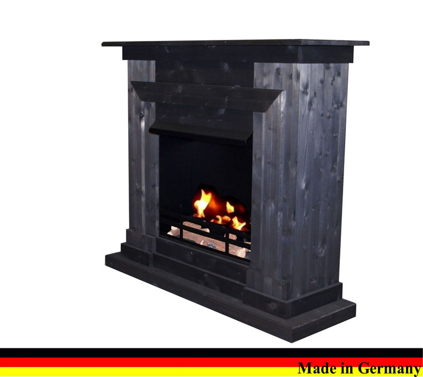 bioethanol gel ethanol und gelkamin kamin berlin deluxe schwarz incl 3 l brenner ebay. Black Bedroom Furniture Sets. Home Design Ideas