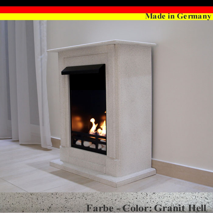 ethanol firegel fireplace cheminee madrid premium granite grey 21 piece set ebay. Black Bedroom Furniture Sets. Home Design Ideas