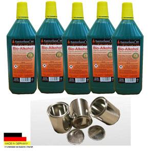5 Liter Hochleistungs Bio Ethanol & 3 Dosen 0,25 L