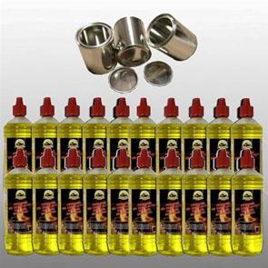 20 Liter Hochleistungs Brenngel & 3 leere Dosen 0,25 L.