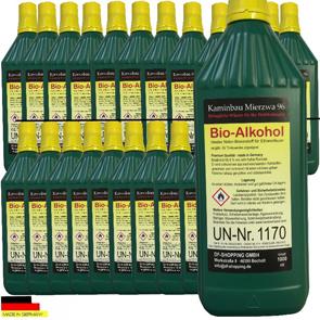24 Liter Hochleistungs Bio Ethanol  Bio Alkohol für Ethanol- und Gelkamine