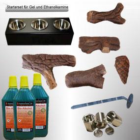 13 tlg. Starterset für Ethanol Kamine mit 0,25 Liter Dosen