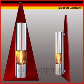 Ethanol und Gel Kamin - Model Pyramide Rot