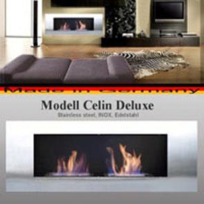 Gelkamin Ethanolkamin Kamin Modell Celin Deluxe Edelstahl