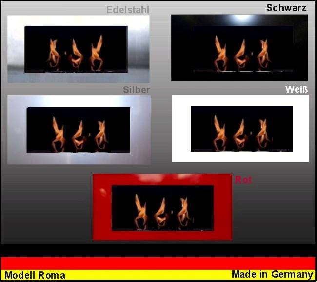 Gel- und Ethanolkamin  Kamin Modell Roma - Wählen Sie die Farbe