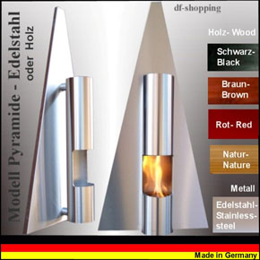 Gel and Ethanol Fire place Fireplace Model Pyramide - Choose the color