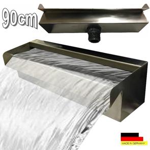"""Wasserfall 90 cm Edelstahl Waterfall Wasserspiel Kaskade V2A  """"Made in Germany"""""""