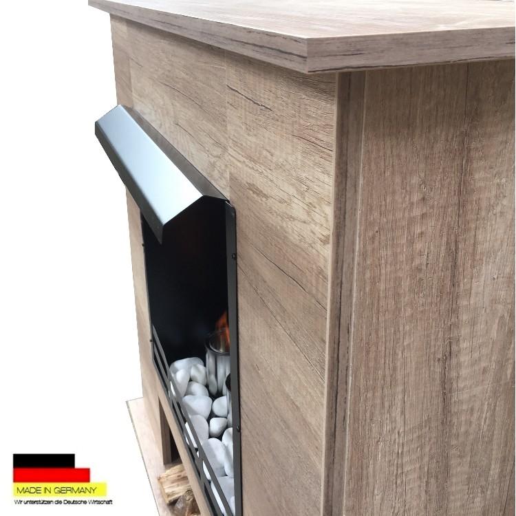 gelkamin ethanolkamin kamin fireplace modell 001b eiche hell inkl 27 teil set ebay. Black Bedroom Furniture Sets. Home Design Ideas