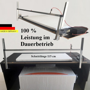 Styropor Schneidegerät 115 cm + 5 Drähte Thermo-Säge Styropor Cutter WDVS