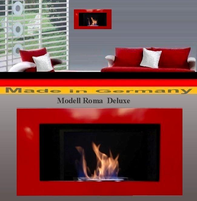 Gel und Ethanol Kamin Roma Deluxe Rot