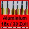 """18 Pfeile 30"""" (79.3 cm) für Compound / Recurve Bogen - Aluminium"""