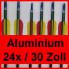 """24 Pfeile 30"""" (79.3 cm) für Compound / Recurve Bogen - Aluminium"""