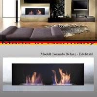 Ethanol und Gel Kamin - Model Tornado Deluxe Edelstahl